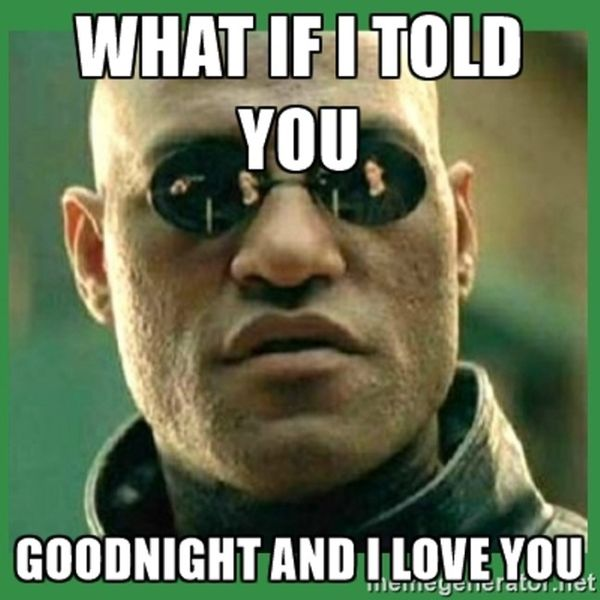 Good Night and I Love You Funny Meme Image
