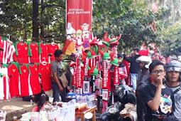 Pedagang Raup Keuntungan Besar, Jualan Atribut Timnas Indonesia U-23