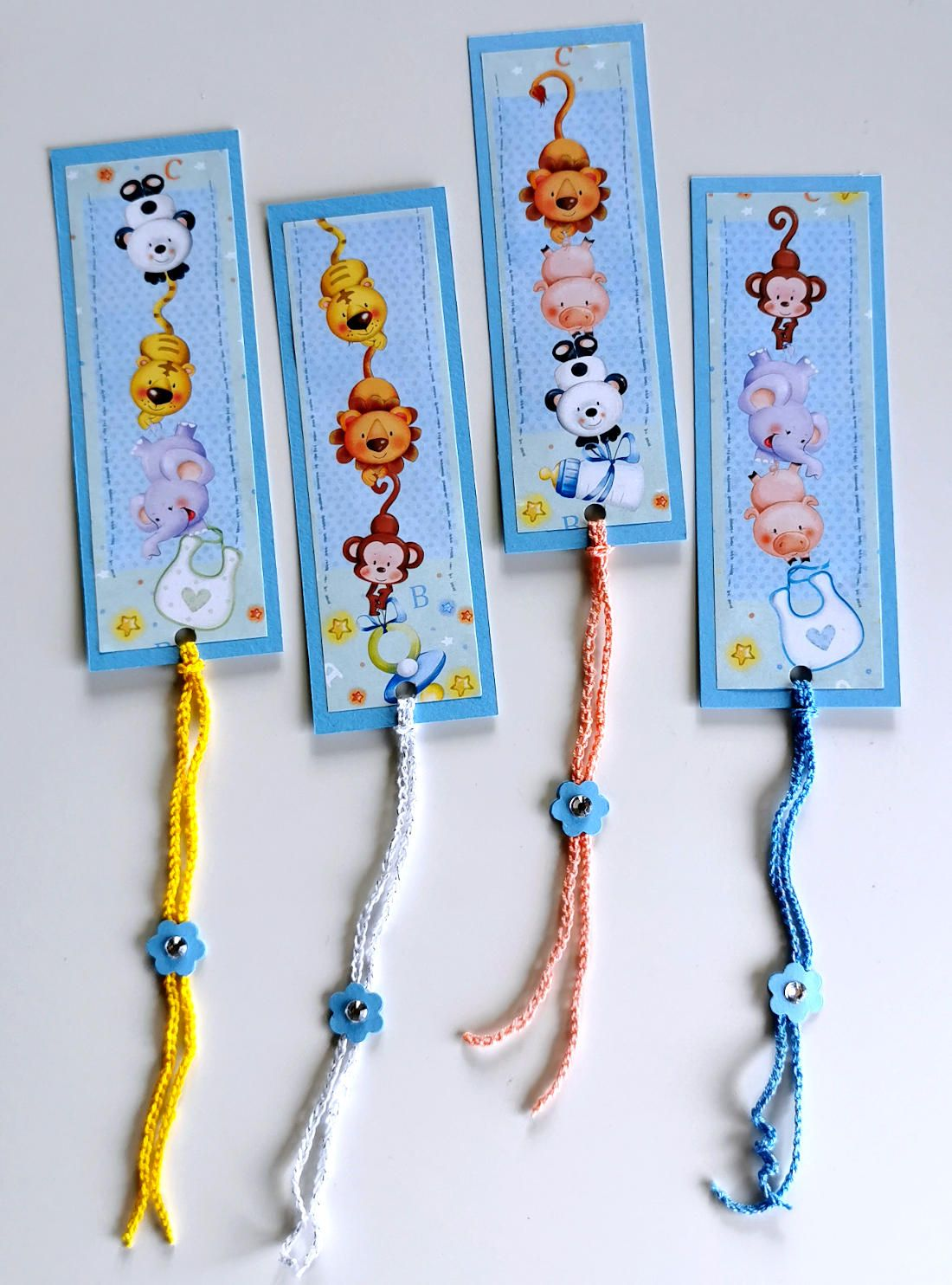 newborn favours bookmarks