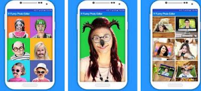 Funny photo editor aplikasi android untuk membuat foto lucu dan aneh