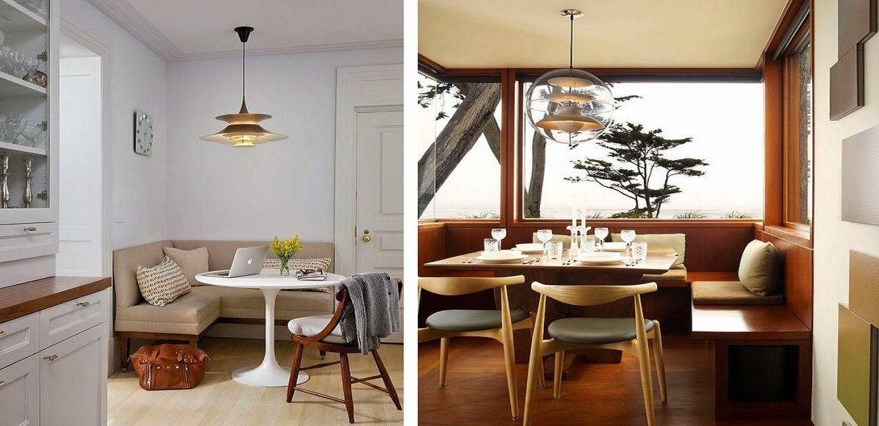 Rincones acogedores para comer en la cocina cocinas con for Mesas rinconeras de cocina de madera