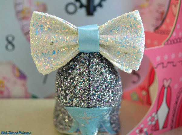 irregular choice sparkling slipper glitter bow close up