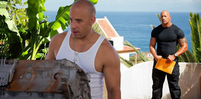 Vin Diesel şi Dwayne Johnson în Fast And Furious 6