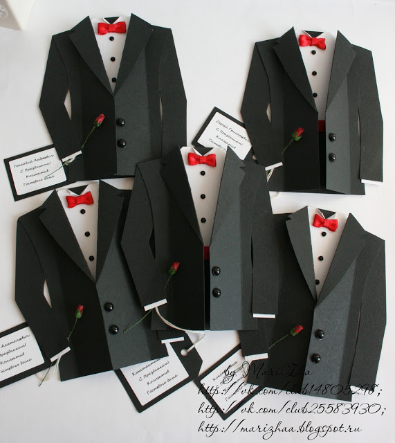 DIY Tuxedo Cards or Invitations with Template.