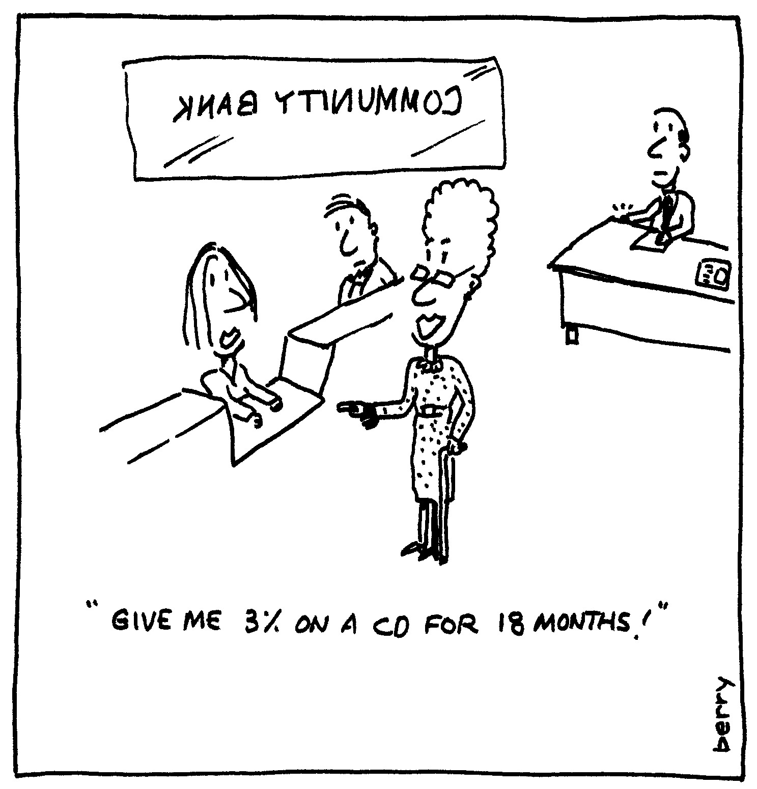 Berry Cartoons: Bank Robbery Cartoon
