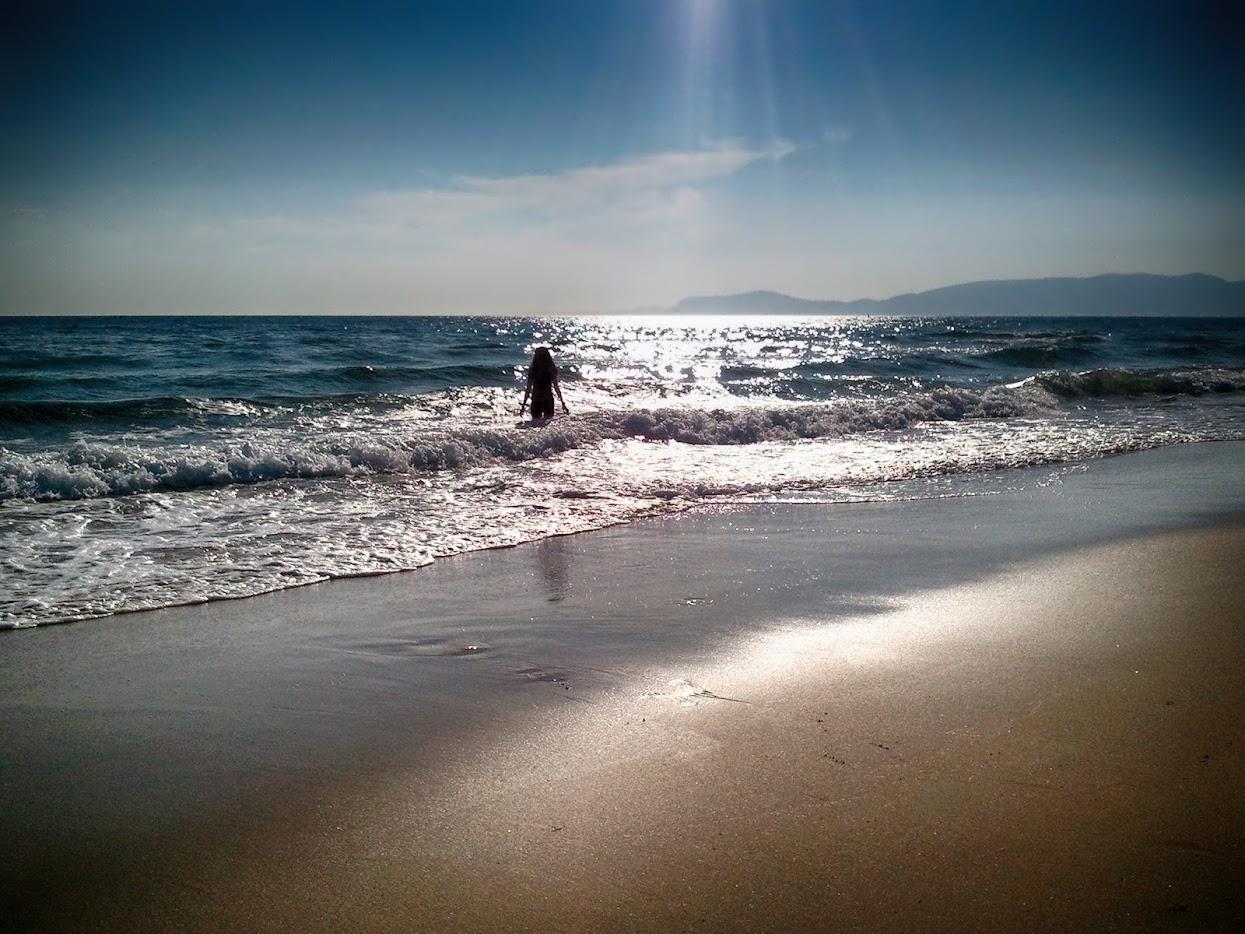 Praia na Península de Troia