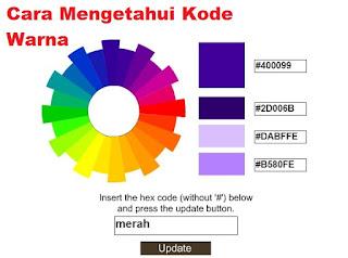 Cara Mengetahui Kode Warna Dengan Mudah