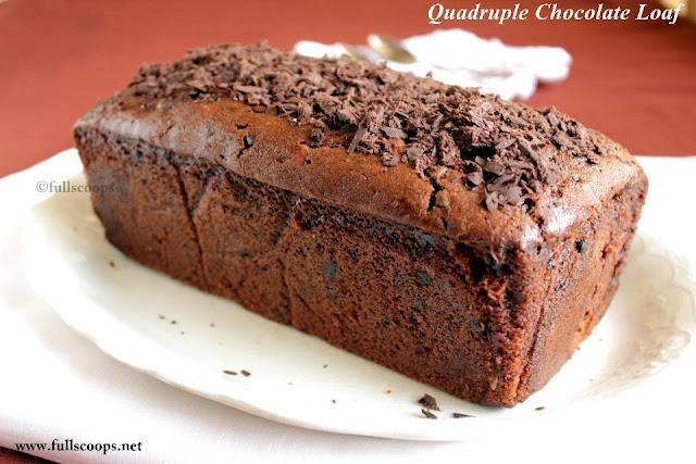 Quadruple Chocolate Loaf