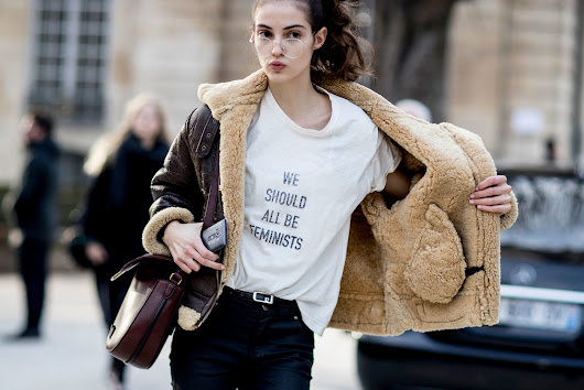 Models Wear Dior's Feminist T-Shirt on the Streets at Couture Fashion Week         -          The Front Row View