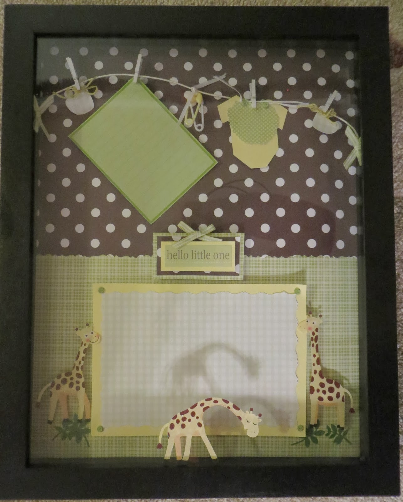 Baby Bedroom In A Box Special: Tiny Treasures: Baby Nursery Shadow Box