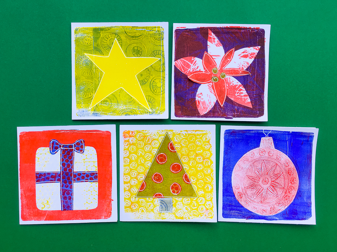 Printing With Gelli Arts Create Seasons Greetings Cards With The