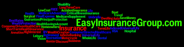 Easy Insurance Group - Life - Health - Medicare - Dental - Vision - Business - Pet - Car - Truck - SR22 - Home - Renter - Retirement - Investments - Much More