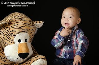 Sesión de fotos infantil: Joel - Sesión en estudio FJA