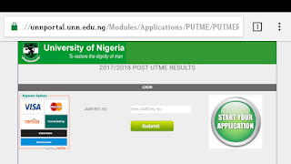 HOW TO CHECK UNN POST UTME RESULTS