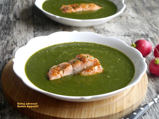 Zupa szpinakowa z łososiem - Czytaj więcej »
