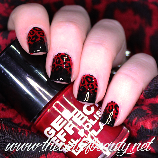Leopard Manicure in Red