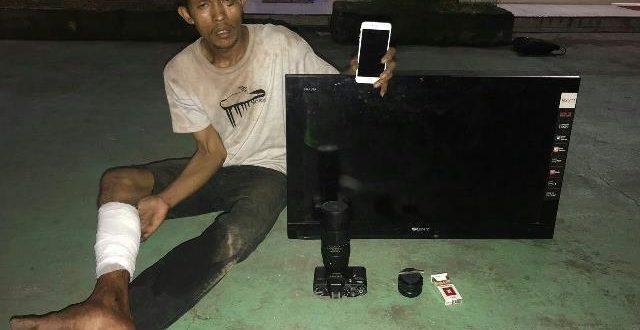 Mencuri TV di Perumahan, Appi Dihakimi Warga