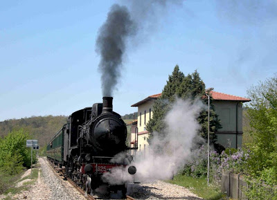 Steam engine in Tuscany Italy