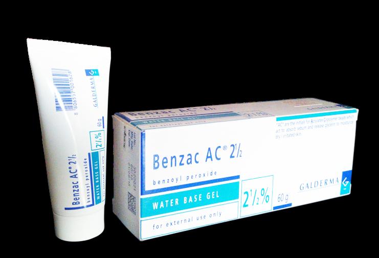 ครีมลดสิวอุดตัน Benzac AC