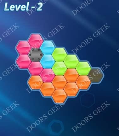 Block! Hexa Puzzle [5 Mania] Level 2 Solution, Cheats, Walkthrough for android, iphone, ipad, ipod