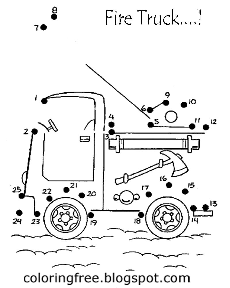 Fire Engine Coloring Pages To Print Tanker Truck Coloring Pages
