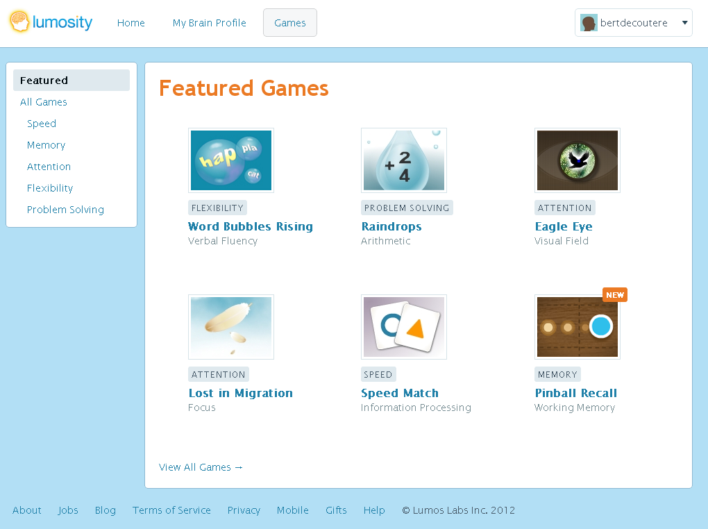 Lumosity brain games review (the other learning technology) | Re:Bert
