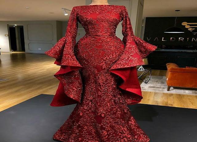 9a87ec6a4 طريقة تفصيل باترون فستان سهرة جميل وسهل التحضير شرح مفصل -#2