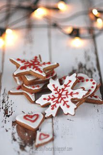 image result for farmhouse christmas cookies decorating with stars