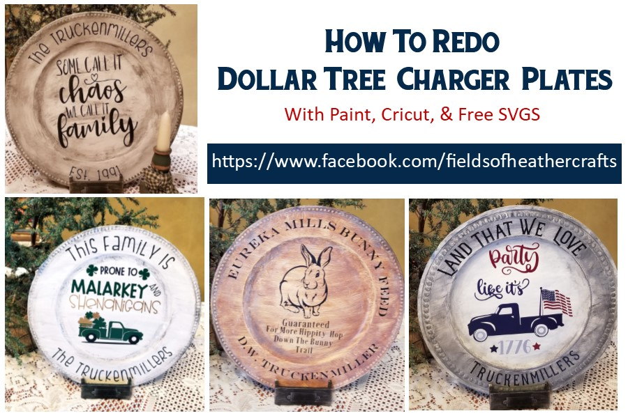 painting decorating dollar tree chargers