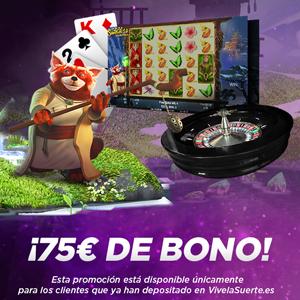 VivelaSuerte promocion 75 euros bono 22-24 febrero