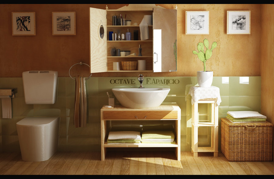 23 Natural Bathroom Decorating Pictures: Home Interior Design & Decor: Bathrooms A L'abode