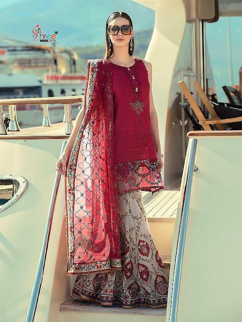 0ef4559110 Shree Fab Maria b lawn spring Summer 19 nx Pakistani Suits - Diwan ...