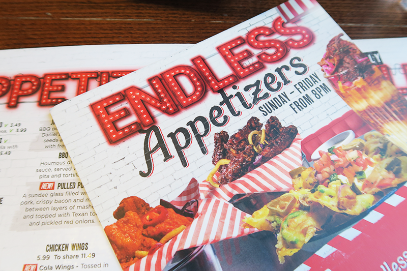 TGI Fridays Endless Appetizers Review | Colours and Carousels - Scottish Lifestyle, Beauty and Fashion blog
