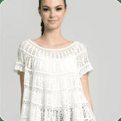 Hermosa Blusa Blanca a Crochet o Ganchillo