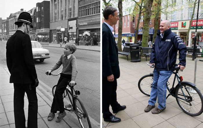 Photographer Recaptures Old Pictures Creating A Beautiful Reunion Of People He Photographed Decades Ago - David Harvey And Tim Goodman (1980 And 2010)