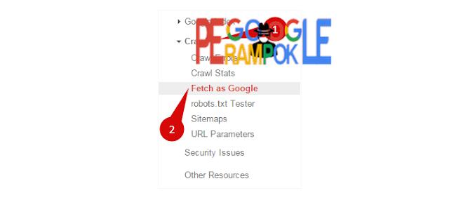 Trik mempercepat index postingan blog menggunakan Fetch as Google