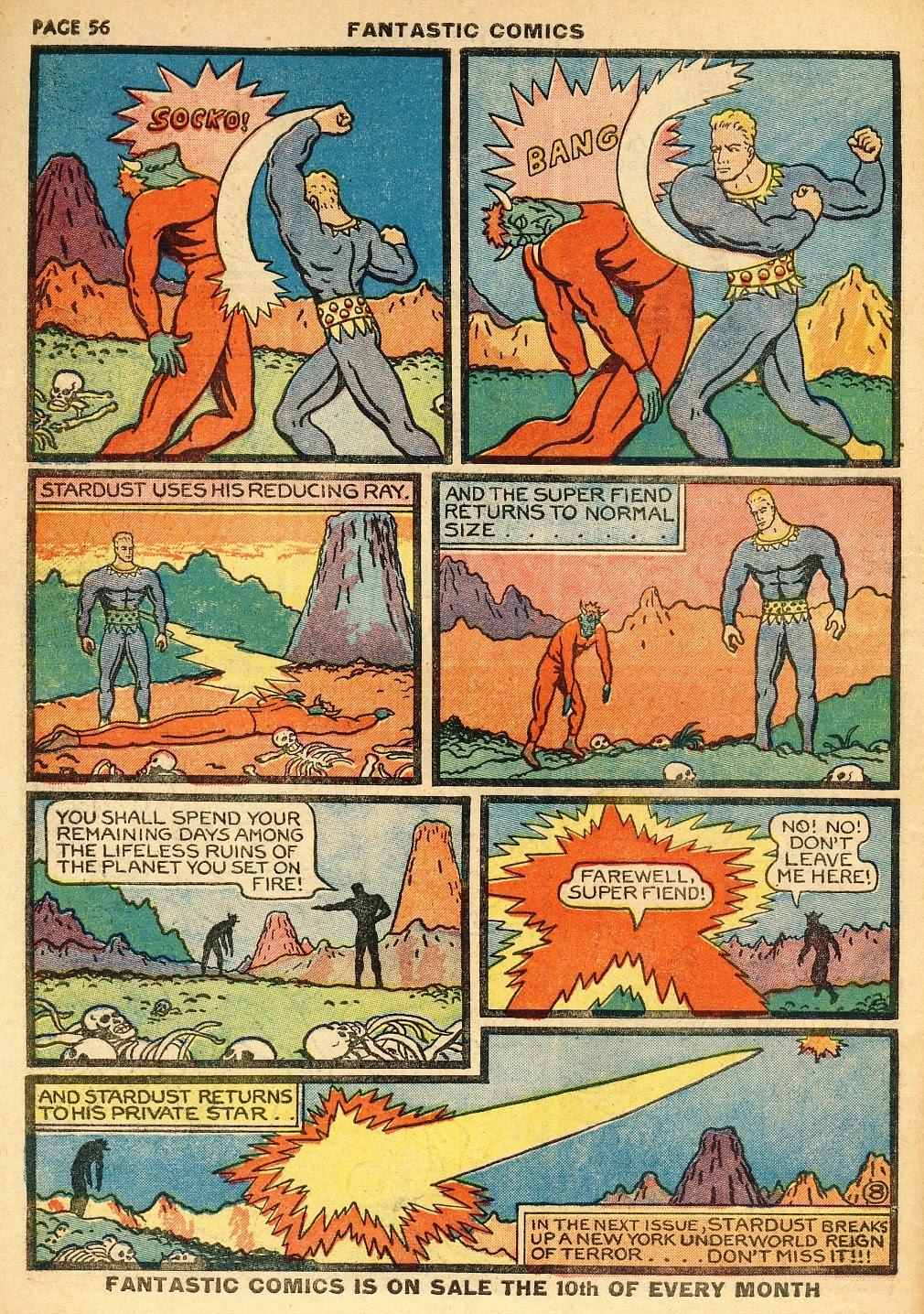 Read online Fantastic Comics comic -  Issue #10 - 57