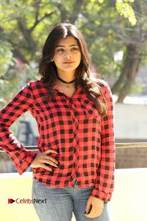 Actress Hebah Patel Stills in Blue Denim Jeans at Nanna Nenu Naa Boyfriends Movie Success Meet  0063.JPG