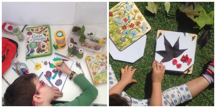 actividad infantil primavera, guia campo y premsa