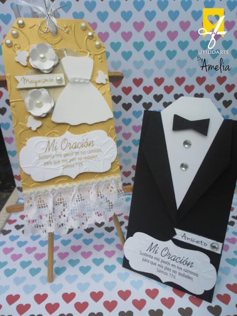 Bookmarks novios wedding tags
