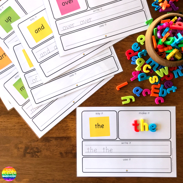 Teaching Sight Words - practical ways to teach high frequency words plus printable sight word mats to use   you clever monkey