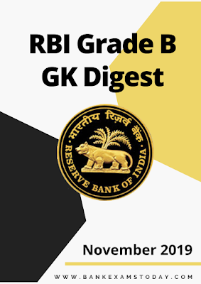 RBI Grade B Monthly GK Digest: November 2019