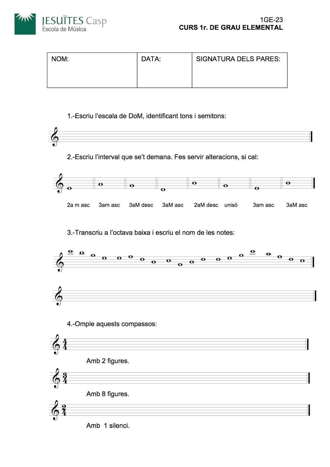 El Llenguatge Musical D E1