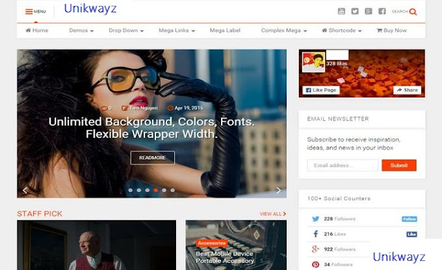 Download UNIKWAYZ 6.1.2 - Responsive News & Magazine  Blogger Template - SEO Optimized Template (Premium Version)