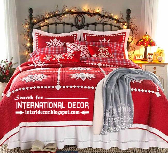 Christmas decorations for bedroom 2015 in new year Christmas red linen for bedroom & Best Christmas decorations for bedroom 2015