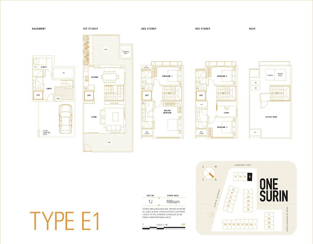 One Surin Floor Plan Type E1