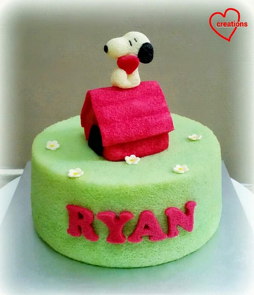 Snoopy First Birthday Cake