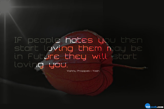 people will start loving you attitude quote