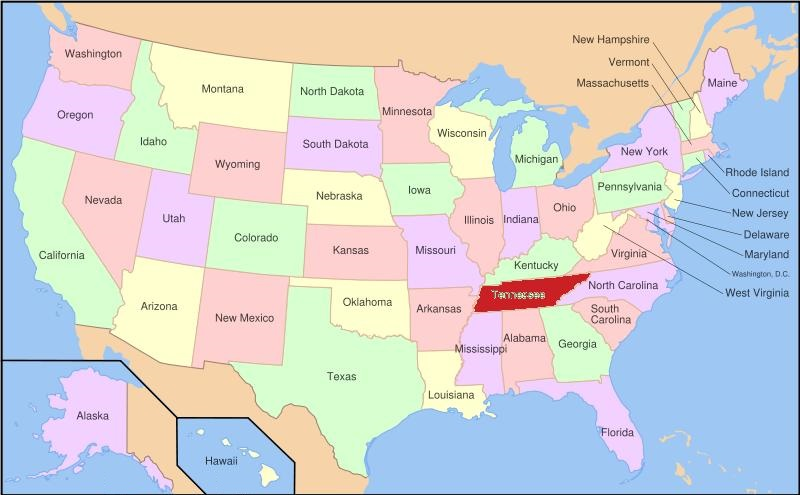 Map of Tennessee | State Map of USA