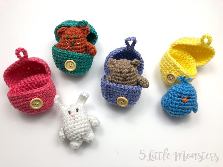 5 Little Monsters: Crocheted Surprise Eggs